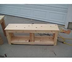 Best Wooden entryway bench plans