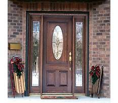 Best Wooden front door with glass panels.aspx