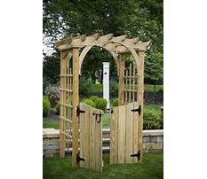 Best Wooden garden trellis gate