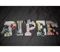 Best Wooden letters covered in scrapbook paper