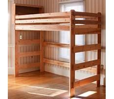 Best Wooden loft bed plans free