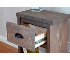Best Wooden nightstand blueprints