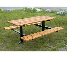 Best Wooden park bench and table