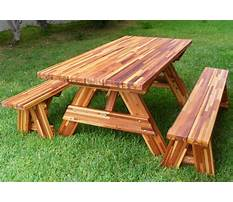 Best Wooden picnic table plans free