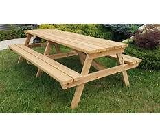 Best Wooden picnic table plans wooden posts