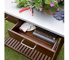 Best Wooden potting bench with zinc top