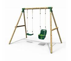 Best Wooden single swing and slide set