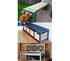 Best Wooden storage bench plans