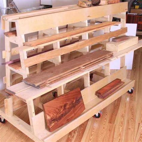 Woodshop Lumber Storage Rack Plans