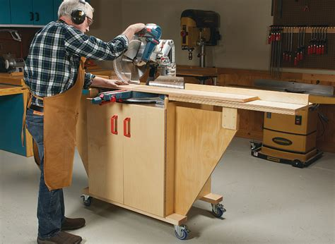 Woodsmith Woodworking Plans Miter Saw Station DIY