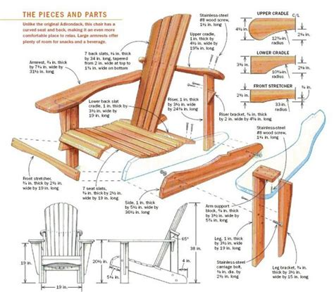 Woodwork Adirondack Chairs Free Adirondack Chair Plans