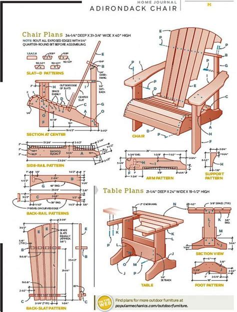 Woodwork Free Adirondack Chair Plans Popular Mechanics