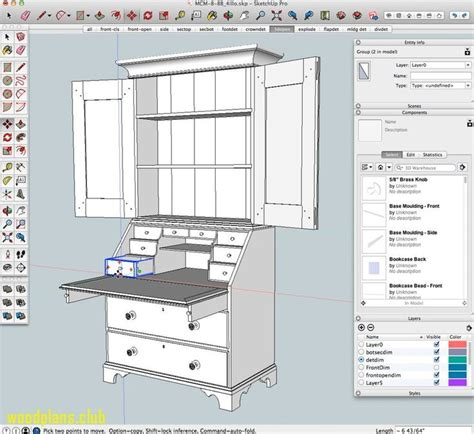 Woodwork Plans Jobs Using Sketchup For Comics