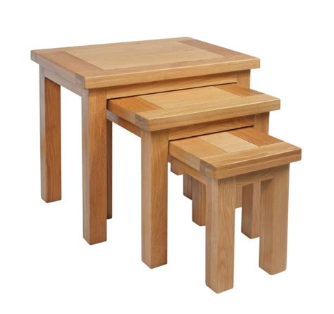 Woodwork Plans Light Oak Nest Of Tables