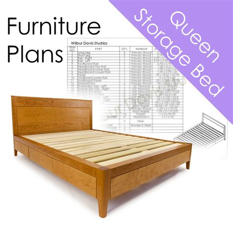 Woodwork Plans Queen Size Kids Platform Beds With Storage