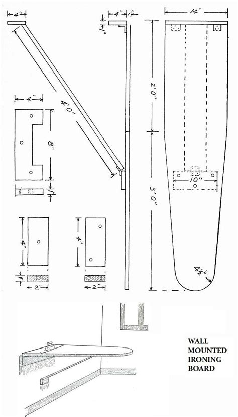 Woodwork Plans Wall Mounted Ironing Board Plans