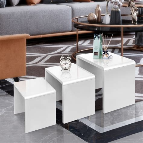 Woodwork Plans White Nest Of Tables UK