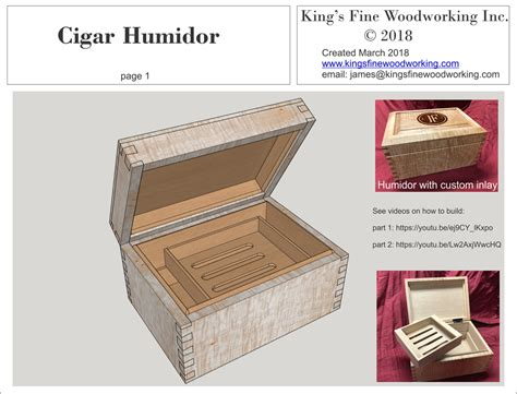 Woodwork Woodworking Plans Humidor