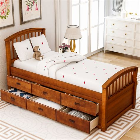 Woodwork Woodworking Plans Twin Platform Bed With Drawers