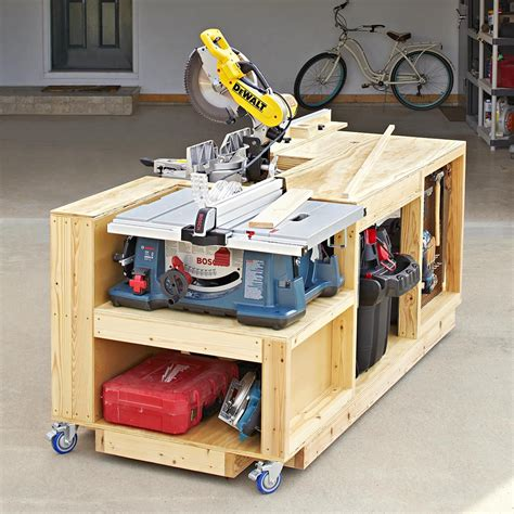 Woodworking Bench Wooden Mobile Tool Stand Plans