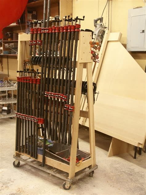 Woodworking DIY Portable Pipe Clamp Rack
