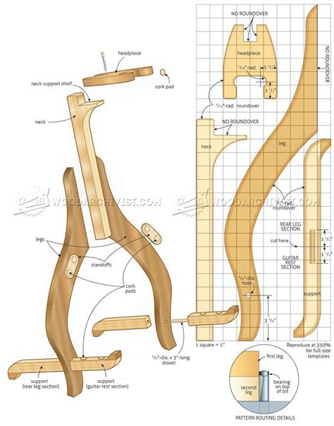Woodworking DIY Wood Guitar Stand Plans 7