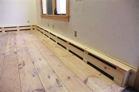 Woodworking Diy Wood Baseboard Heater Covers
