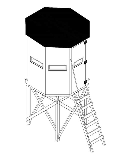 Woodworking Download Hexagon Free Deer Stand Plans Free