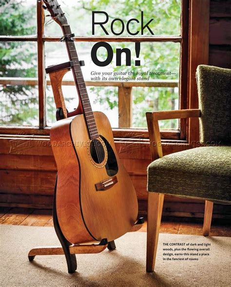 Woodworking Free Homemade Homemade Guitar Stand Plans