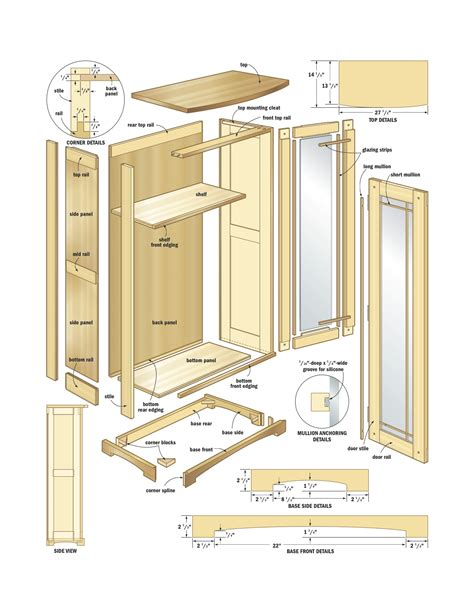 Woodworking Hutch Cabinet Plans Free