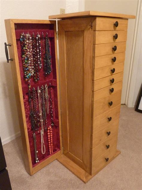 Woodworking Jewelry Cabinet Plans