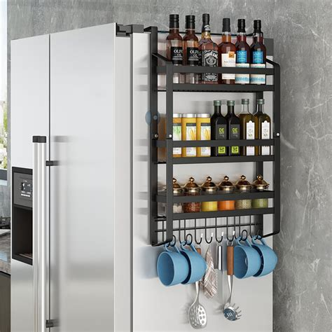 Woodworking Magnetic Spice Racks For Fridge