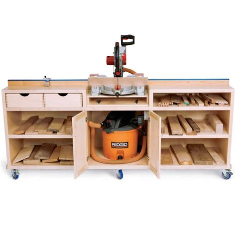 Woodworking Miter Saw Cabinet Free Plans