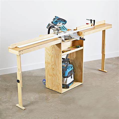 Woodworking Mobile Portable DIY Miter Saw Stand Plans