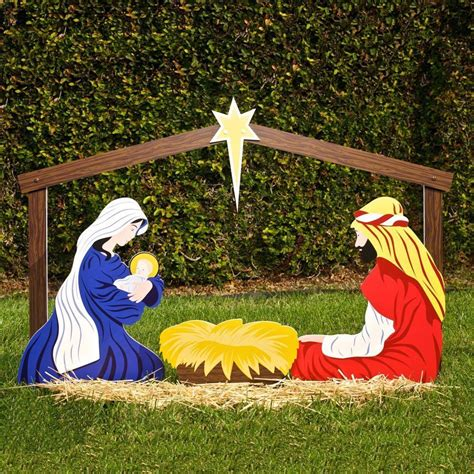 Woodworking Nativity Scene Outdoor Decoration