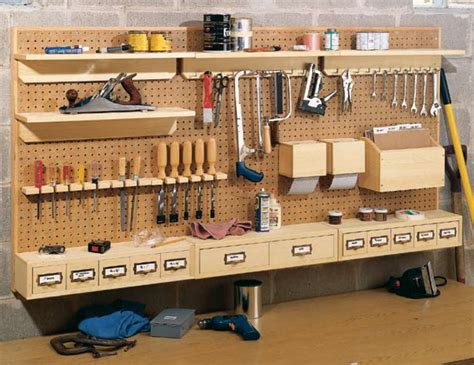 Woodworking Pegboard Storage