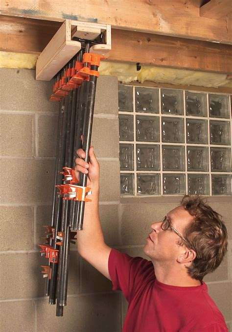 Woodworking Pipe Clamp Storage Ideas