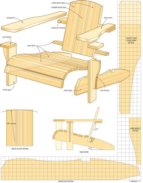 Woodworking Plans Adirondack Chair Free Patterns