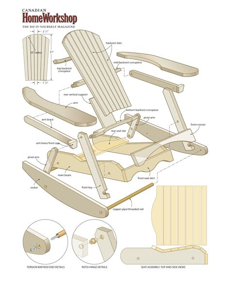 Woodworking Plans Adirondack Chair Pattern