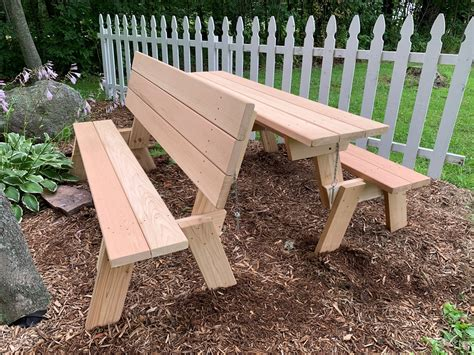 Woodworking Plans Bench Seat picknic Table Setting