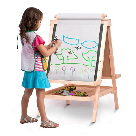 Woodworking Plans Childs Easel With Paper Roll