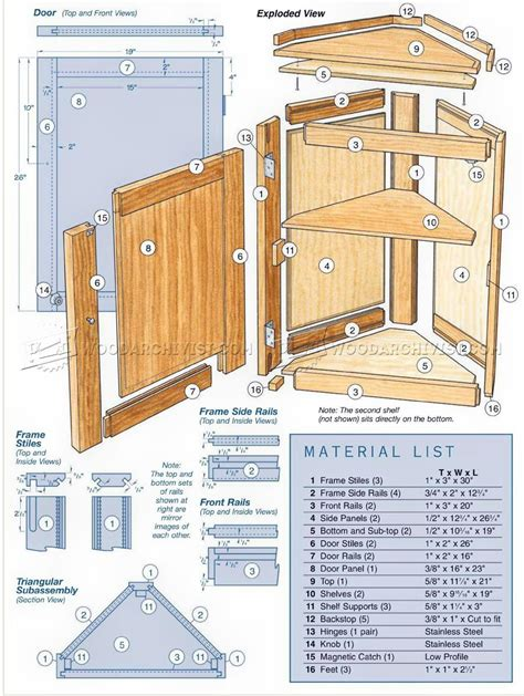 Woodworking Plans Corner Cabinet