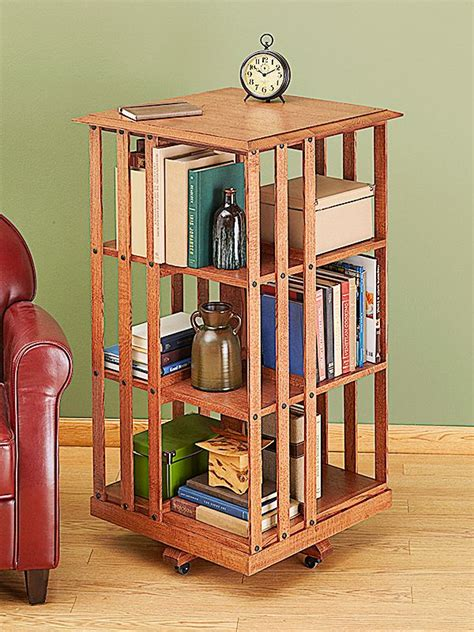 Woodworking Plans Rotating Bookshelf Parts