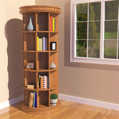 Woodworking Plans Rotating Bookshelf To Other Rooms