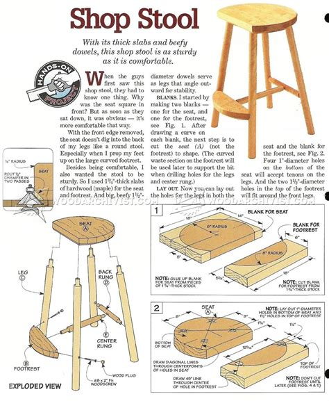 Woodworking Plans Shop Stool