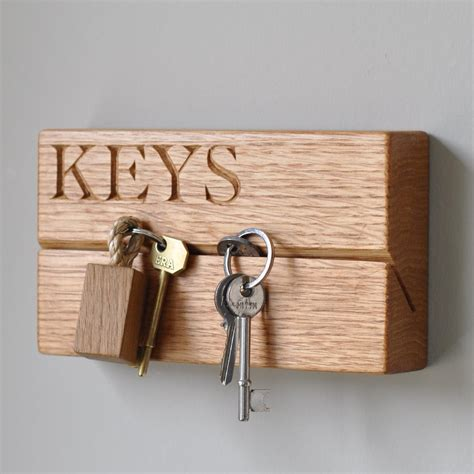 Woodworking Project Wooden Key Rack