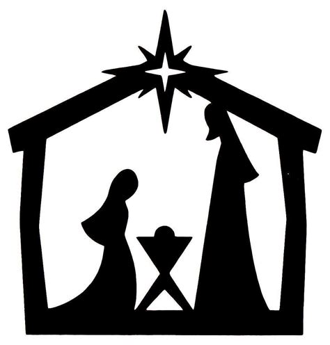 Woodworking Projects Christmas Nativity Clipart Black