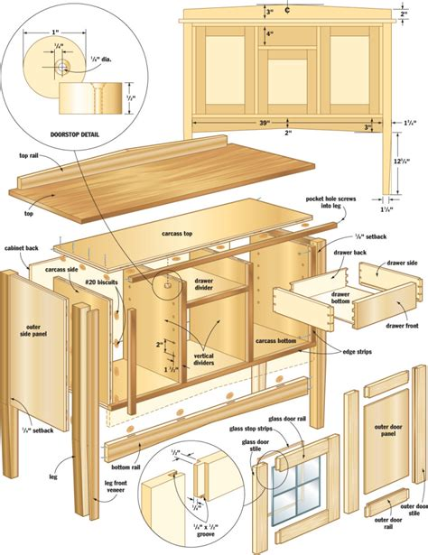 Woodworking Projects Free Cad Drawings Designs