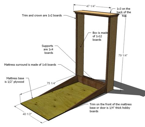 Woodworking Projects Murphy Bed Free Plans PDF