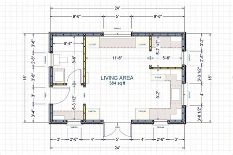 Woodworking Shop Floor Plan 16 X 24 Building With Porch
